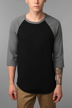 BDG Colorblock Raglan Tee- Henleys are one of the best casual wear choices a man can make