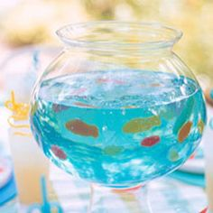 Jello fishbowl. Cute idea for a mermaid party for Aubri