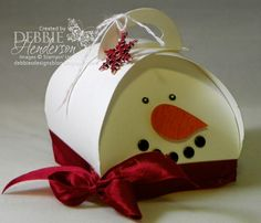 Debbie's Designs: Curvy Keepsake Box Die Snowman!