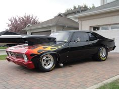 Pro Street Nova Old Muscle Cars, Chevy Muscle Cars, Hot Rods, Cool Cars, Nova, Vehicles, Wicked, Street, American