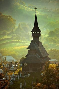 XVII wooden church,Maramures Romania, UNESCO Heritage Site, Considered the last truly bucolic region in Europe. Europe Centrale, Visit Romania, Romania Travel, Places To Travel, Places To See, Voyage Europe, Old Churches, Place Of Worship, Kirchen