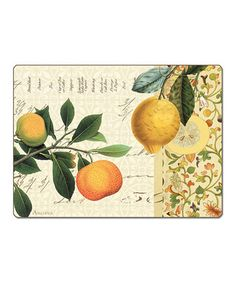 Take a look at this Lemon Branch Hardboard Place Mat - Set of Two by CounterArt on #zulily today!