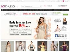 Izidress Coupons and shopping deals http://couponsheap.com/store/izidress-com/  Izidress sells prom dresses, wedding dresses, party dresses and more. All in amazing prices.  For more coupons visit: http://couponsheap.com