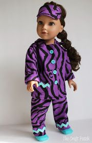 The Craft Patch: American Girl Doll Pajamas
