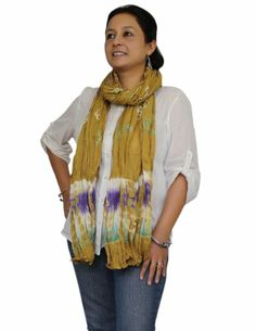 Tie Dye Cotton Crinkled Long Scarf Women Accessory Casual Indian Costume Wrap ShalinIndia,http://www.amazon.in/dp/B00K4Y47HY/ref=cm_sw_r_pi_dp_V-dGtb1259ADQYBJ
