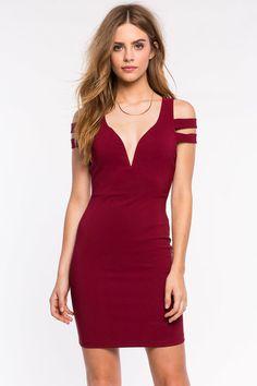 Strappy Off Shoulder Bodycon Dress
