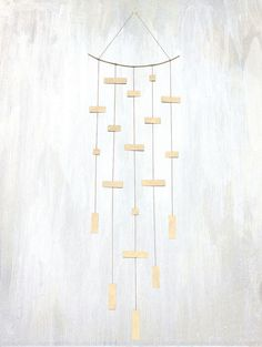 a true piece of art, this rectangular 5 strand mobile is perfect hanging on the wall or from the ceiling.  #failjewelry #failHOME