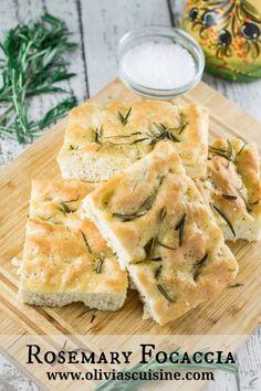 Rosemary Focaccia | www.oliviascuisine.com #bread #italian