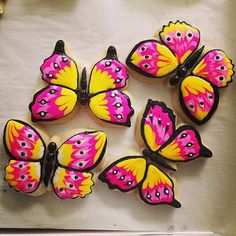 Butterfly Sugar Cookies by ChaosinChocolate on Etsy