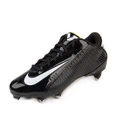 Nike Mens Vapor Strike 4 Low D Football Cleats Black/White-Volt Synthetic  Size