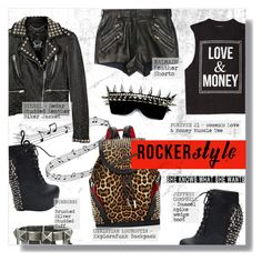 """""""ROCKER CHIC"""" by larissa-takahassi ❤ liked on Polyvore featuring Forever 21, Christian Louboutin, Diesel, Jeffrey Campbell, Balmain and Burberry"""