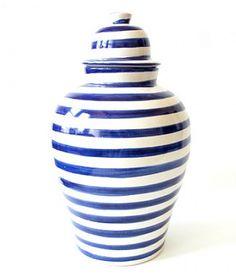 BLUE STRIPED TIBOR GINGER JAR – Design Darling