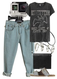 """""""Untitled #5278"""" by rachellouisewilliamson on Polyvore featuring GoPro, H&M, Monki and Topshop"""