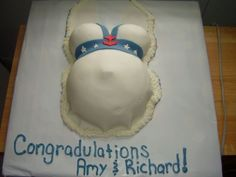 Sailor outfit, nautical theme baby shower, belly By newlywed420 on CakeCentral.com