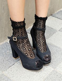 mesh ankle socks