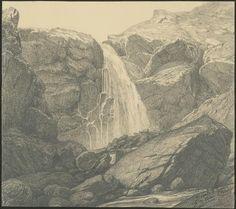 Eugène Viollet-le-Duc, cascade à l'entrée de la vallée d'Ossau, juillet 1833 Mine de plomb Ministère de la Culture (France), Médiathèque de l'architecture et du patrimoine, dist. RMN