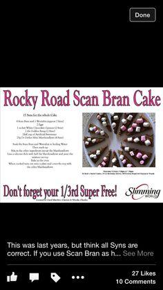 Rocky road scan bran cake!
