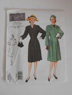 f50d84761855 Vintage 40s Coat Pattern Vintage Vogue 2475 Size 8 by lisaanne1960