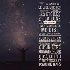 Le #Créateur de l'univers s'intéresse à toi. Il prend soin de toi! #versetdujour #labible