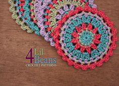 Crochet Pattern : Crochet Coaster Home Decor Spring von 4LilBeans