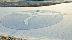 Impressive large-scale Snow Dragon    , - ,   A spectacular sn...