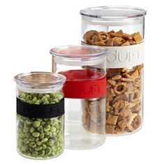 Presso Storage Jars by Bodum® I need about 40 more of these they keep things fresh forever !