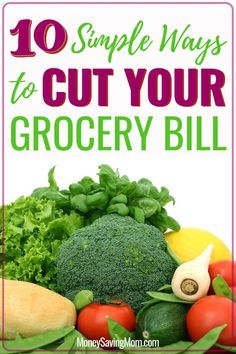 Want to cut your grocery budget? Check out these 10 easy ways to save! Family Meal Planning, Budget Meal Planning, Living On A Budget, Frugal Living Tips, Healthy Foods To Eat, Healthy Eating, Healthy Recipes, Food Cost, Money Saving Mom