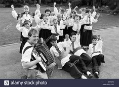 Stock Photo - A-dancing we will go. and that's what these young Ukrainian Club dancers did in Holmfirth where they raised for the bodyscanner appeal. Seen with their dance teacher and Piano Accordion, Dance Teacher, Live News, Dancers, Britain, Vectors, Illustrations, Club, Stock Photos