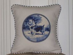 Shabby chic Australian Terrier pillow sham by kreativbyerika, $30.00