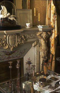The home of Henri and Francoise Quinta, Perpignan, France. Image: Roger Moss ~ old world details French Interior, French Decor, Marble Fireplace Mantel, Fireplace Mantles, Raindrops And Roses, Languedoc Roussillon, Light My Fire, French Chateau, French Countryside