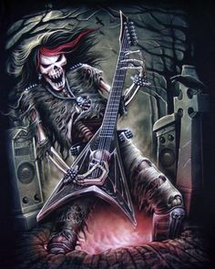 Skeleton Playing Guitar Wallpaper | Grim Reaper Playing Guitar Wallpaper Skeleton guitar player t shirt