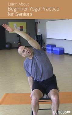 Follow a gentle beginner yoga practice for seniors and people with limited mobility, including chair, standing, and floor poses, to work the whole body.