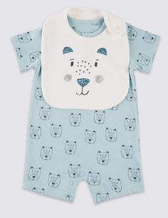 2 Piece Pure Cotton Chien Print Romper with Bib Toddler Outfits, Baby Boy Outfits, Kids Outfits, Little Fashion, Kids Fashion, Hip Baby Clothes, Cute Baby Boy, Baby Baby, Baby Suit