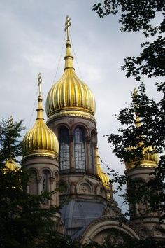 Russian church of St. Elizabeth in Wiesbaden, Germany Weisbaden Germany, Russian Orthodox, Space Architecture, Mosques, Altars, Kirchen, Luxembourg, France Travel, Us Travel