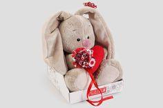 крутой Зайка Ми с сердечком (малый)  #Мягкиеигрушки #Плюшевыезайцы,ЗайкаМиссердечком(малый) #Подарки