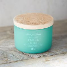 Wooden Top Candle, Sea Salt
