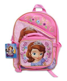 Love this Sofia the First Backpack & Lunch Bag by Disney on #zulily! #zulilyfinds
