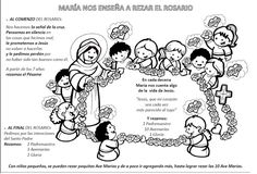 La Catequesis: Recursos Catequesis: Aprendemos los niños a rezar el Rosario coloreando y meditando