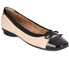 Clarks Candra Glow Square Toe Ballet Flats ($70) ❤ liked on Polyvore  featuring shoes. Ballerina FlatsBallet FlatsLeather ...