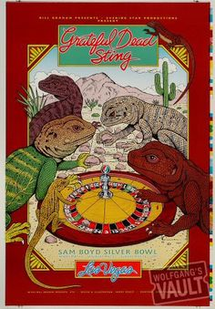 Grateful Dead / Sting - UNLV Silver Bowl - Las Vegas, NV - May 14-16, 1993. Artist: Harry Rossit