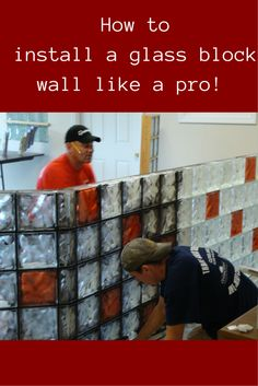 How to install a glass block wall, bar or counter like a pro! It's not as hard as you may think. Click here - http://innovatebuildingsolutions.com/products/glass-block/glass-block-shower