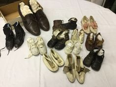 Found on EstateSales.NET: assorted shoes, mostly baby, but men's size 8.5 and ladies kid with bow trim in front
