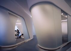 Architectural Photography by London based Nathaniel McMahon Zaha Hadid Interior, Curved Walls, Office Interiors, Contemporary Architecture, Futuristic, Interior Design, Photography, Inspiration, Shiseido