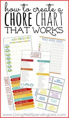 Chores charts!