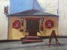 Pub - Kenmare, Ireland by Helena van Emmerik-Finn Framed pastel ~ 6 x 8