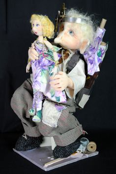 """Hoffman Challenge - 2012 Dolls 1st Place """"The Doll Maker"""" by Marie Carter, IL"""