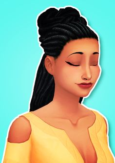 The Sims 4 | ddeathflower Chocolatemuffintop's Belle Dreads Hairstyle in Pixelswirl's Pooklet Overhaul colors | natural hairs for female & male adult