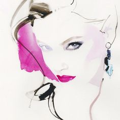 David Downton #fashionillustration #artluxedesigns