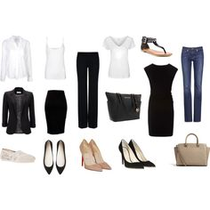 """wardrobe basics"" by flairbybrandi on Polyvore"