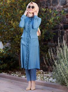Ela Tunic - Blue - Minel Ask